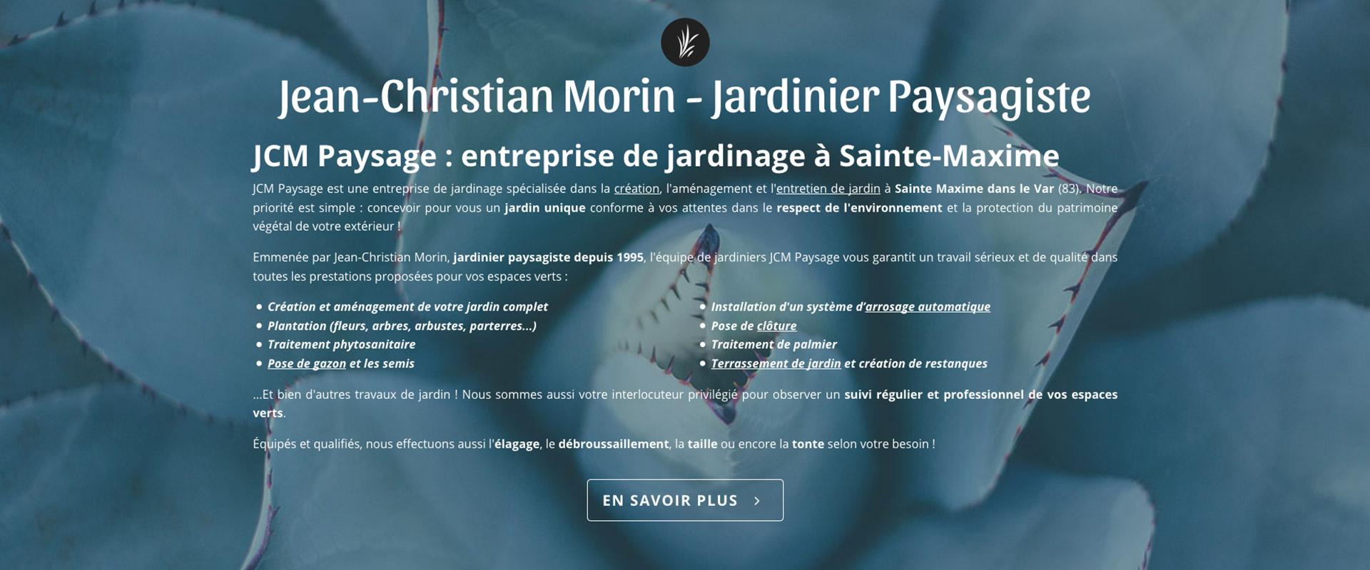 Webdesign présentation JCM paysage