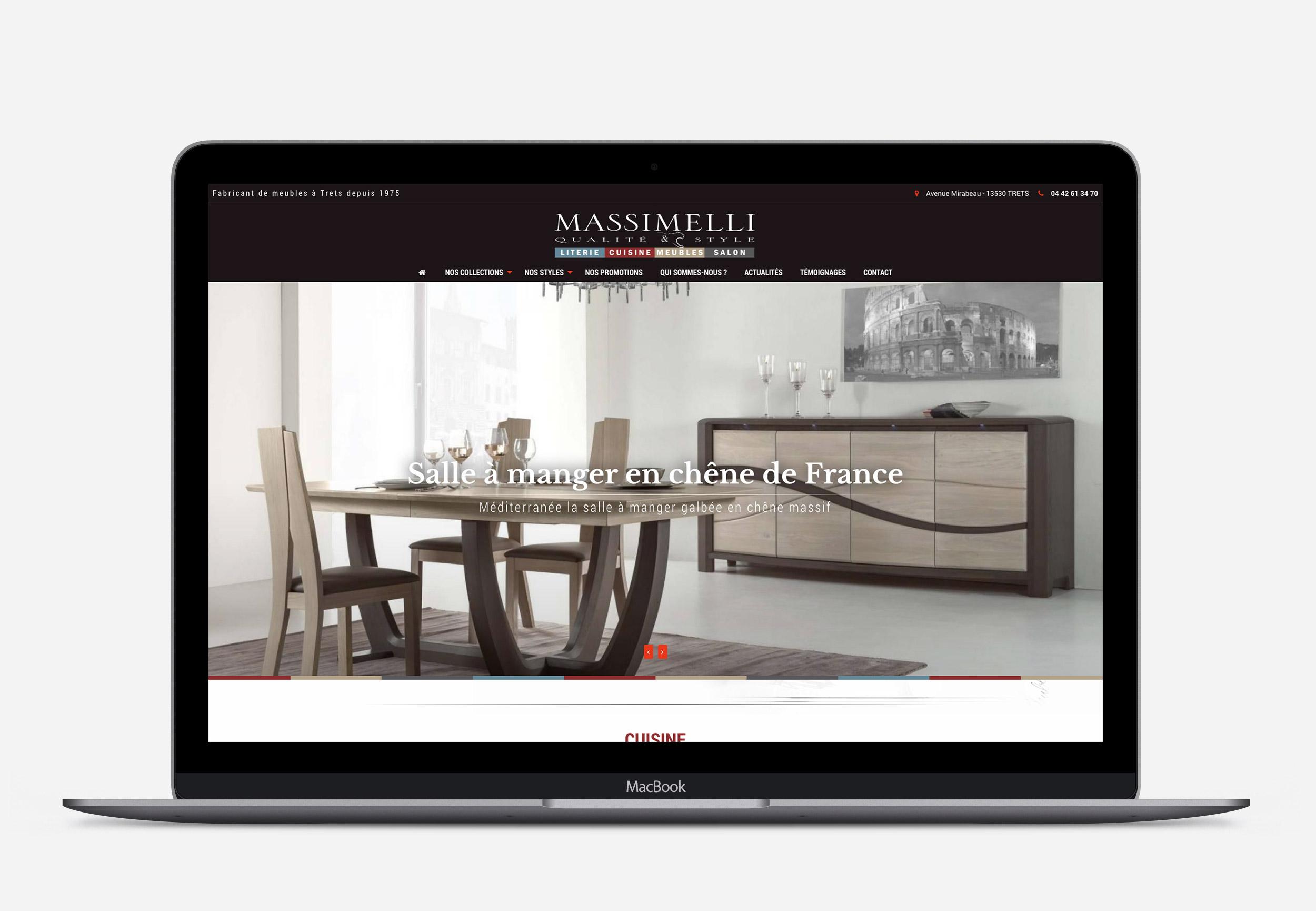 Graphisme site Masimelli