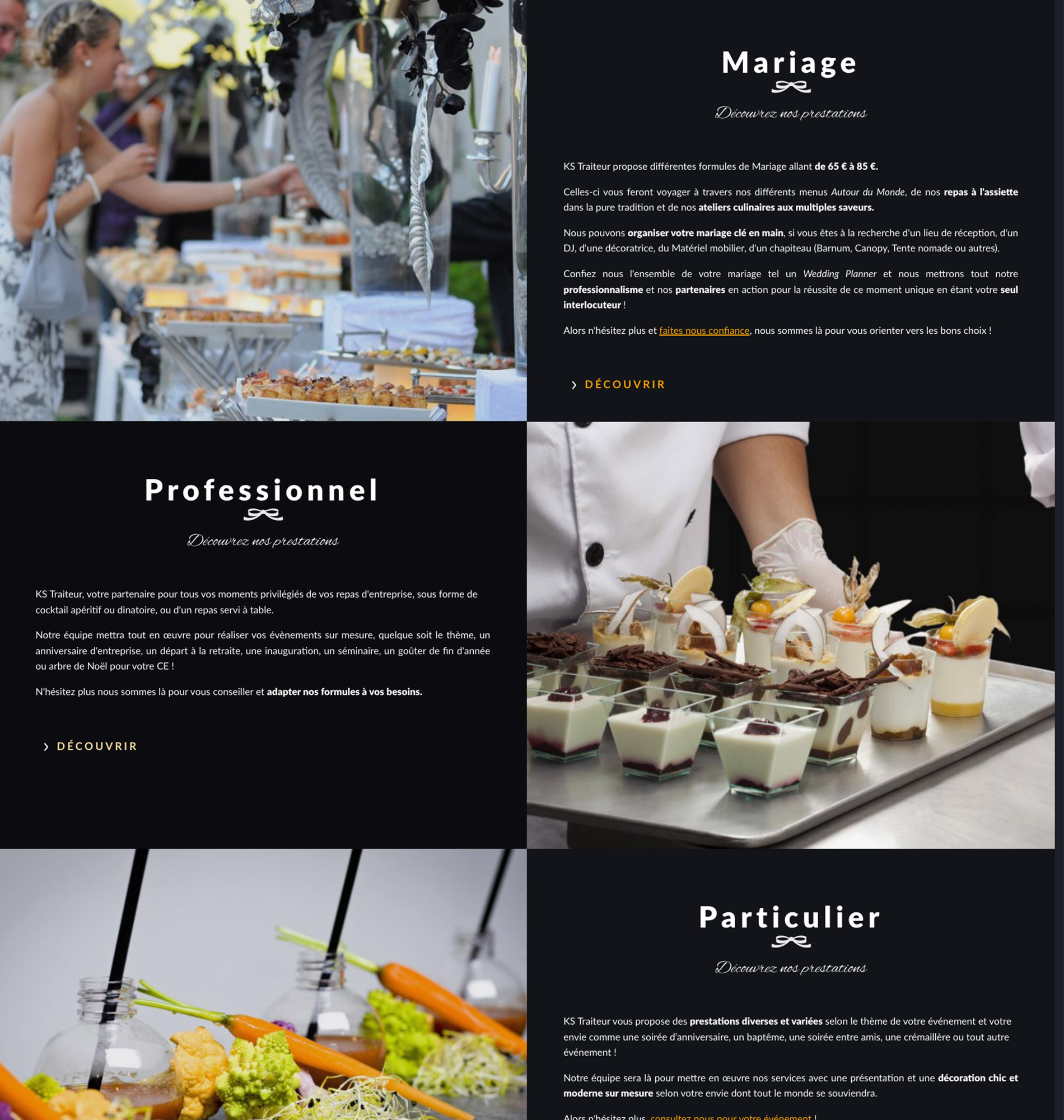 KS Traiteur Webdesign