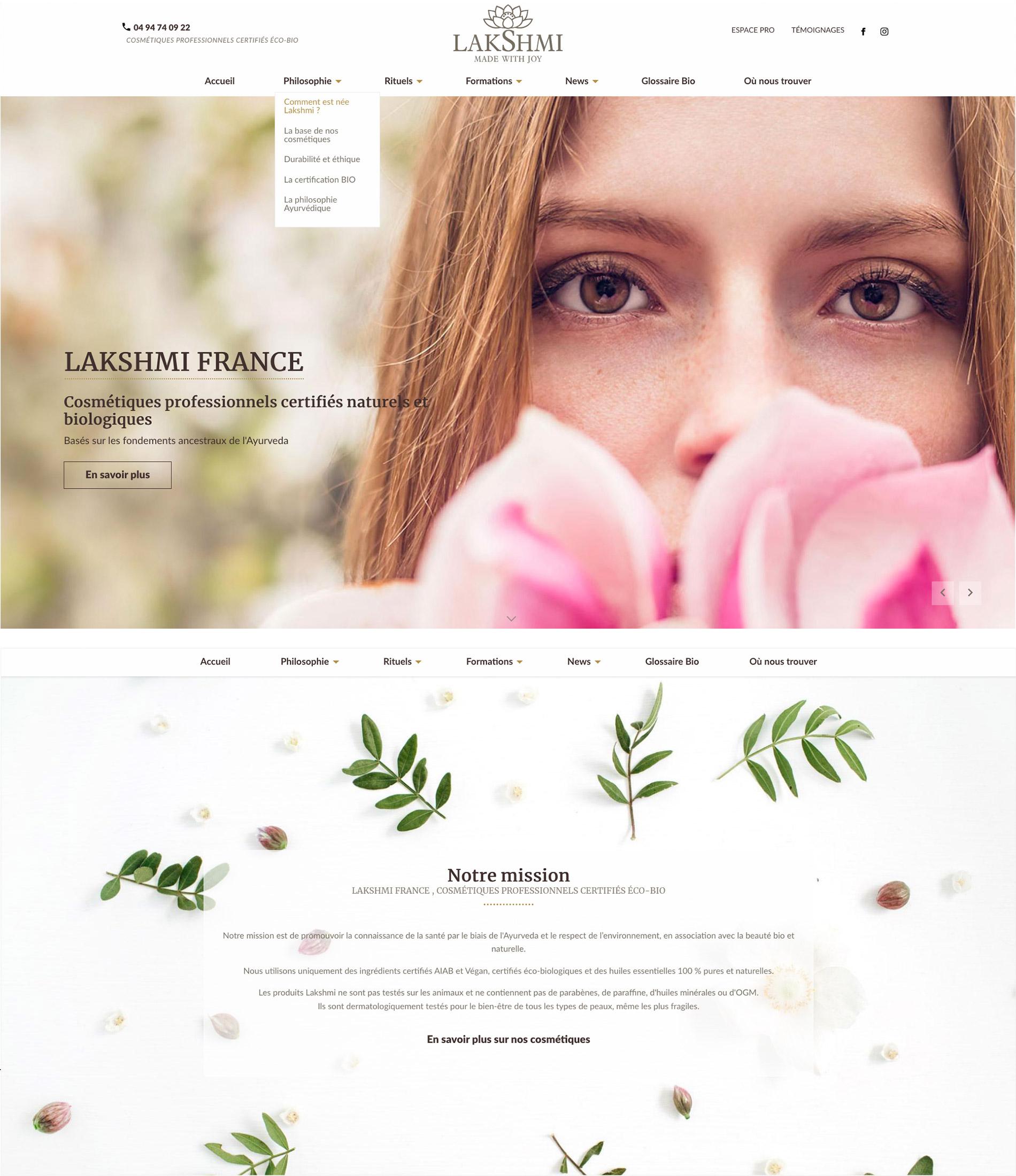 Site Internet Lakshmi France
